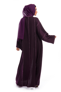 Deep Purple Silk Abaya / Outerwear