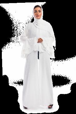 White Silk Abaya / Outerwear