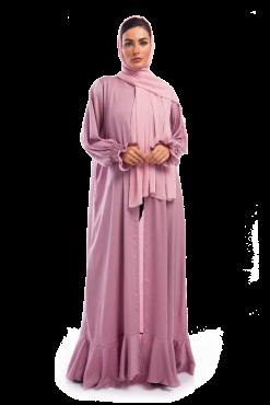 Pink Silk Abaya / Outerwear