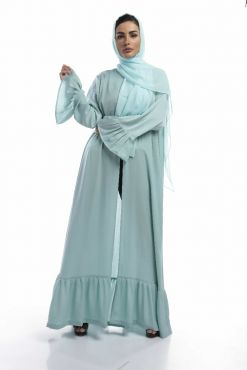 Green Silk Abaya / Outerwear