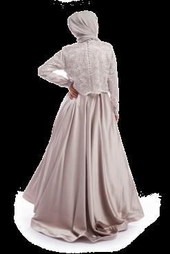 Grey Crop Top & Silk Dress / Gown
