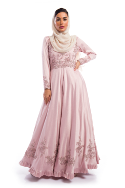 Pink Embellished Dress / Gown