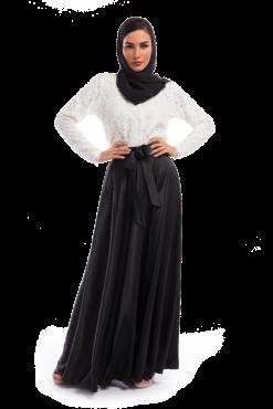Black Skirt & White Top Dress Ensemble