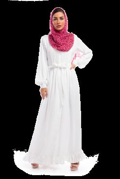 Plain White Silk Dress / Gown